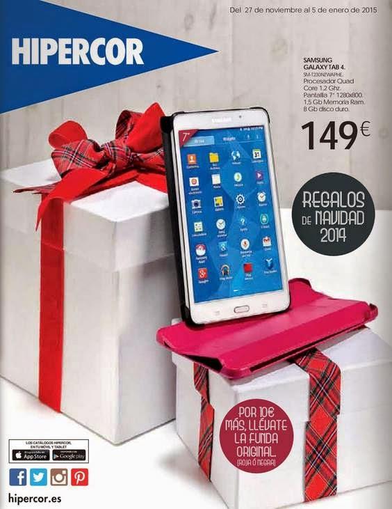 galaxy tab 4 Navidad 2014 Hipercor
