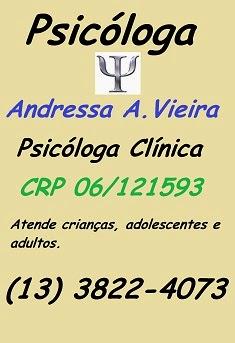 Psicóloga Andressa