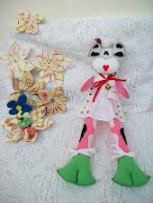 Su primer muñeco de tela.