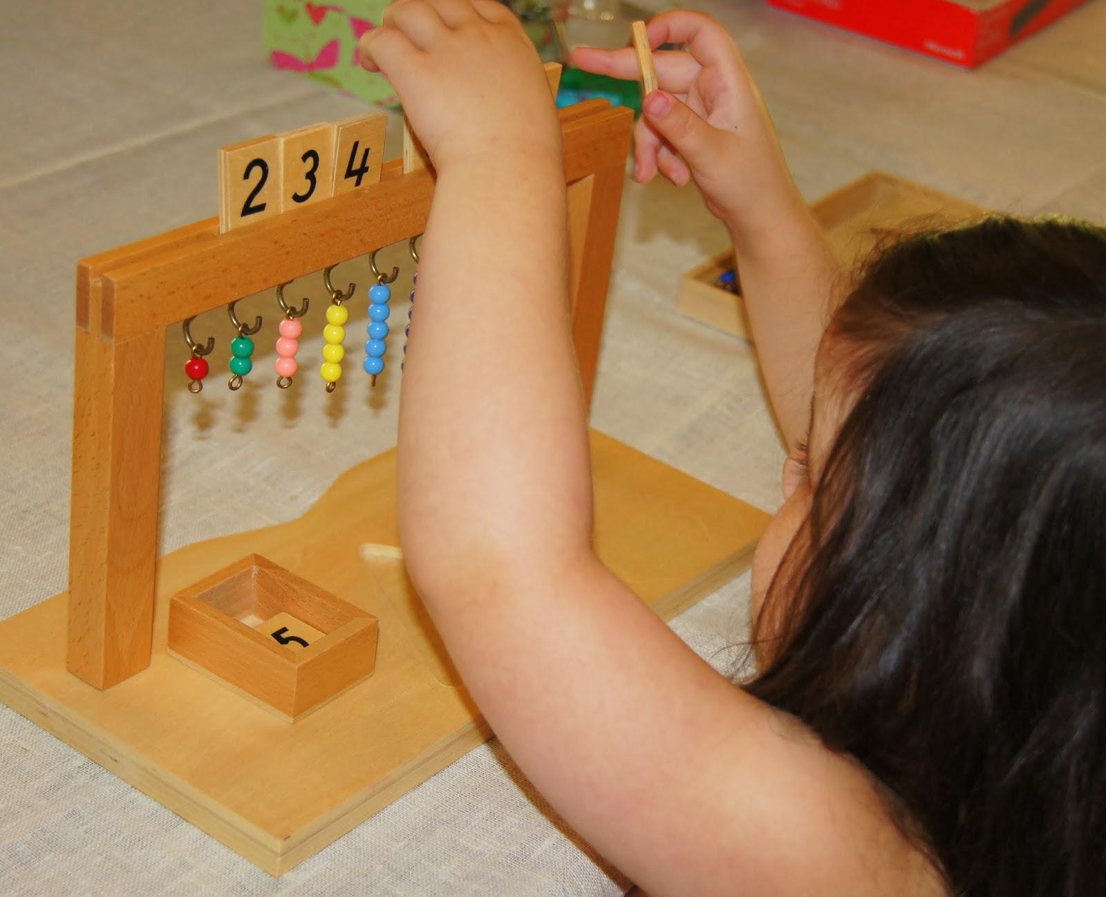Montessori Math Hanging Bead Stair on Making Montessori Ours Education Printables Bead