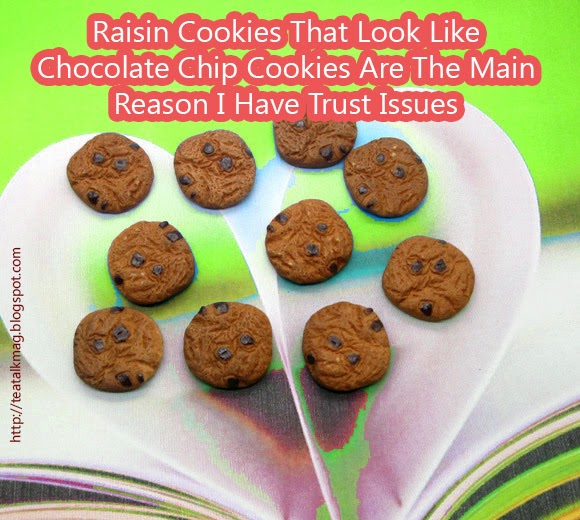 Raisin Cookies That Look Like Chocolate Chip Cookies Are The Main Reason I Have Trust Issues