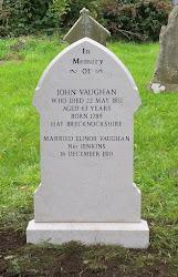 John Vaughan Grave Headstone Monument