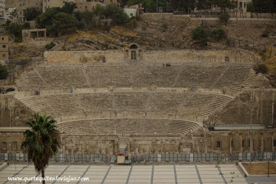 Teatro romano Amman - Viaje a Jordania