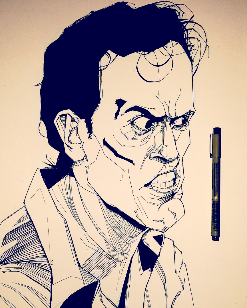 Evil Dead Illustration Ash
