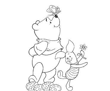 #7 Winnie The Pooh Coloring Page