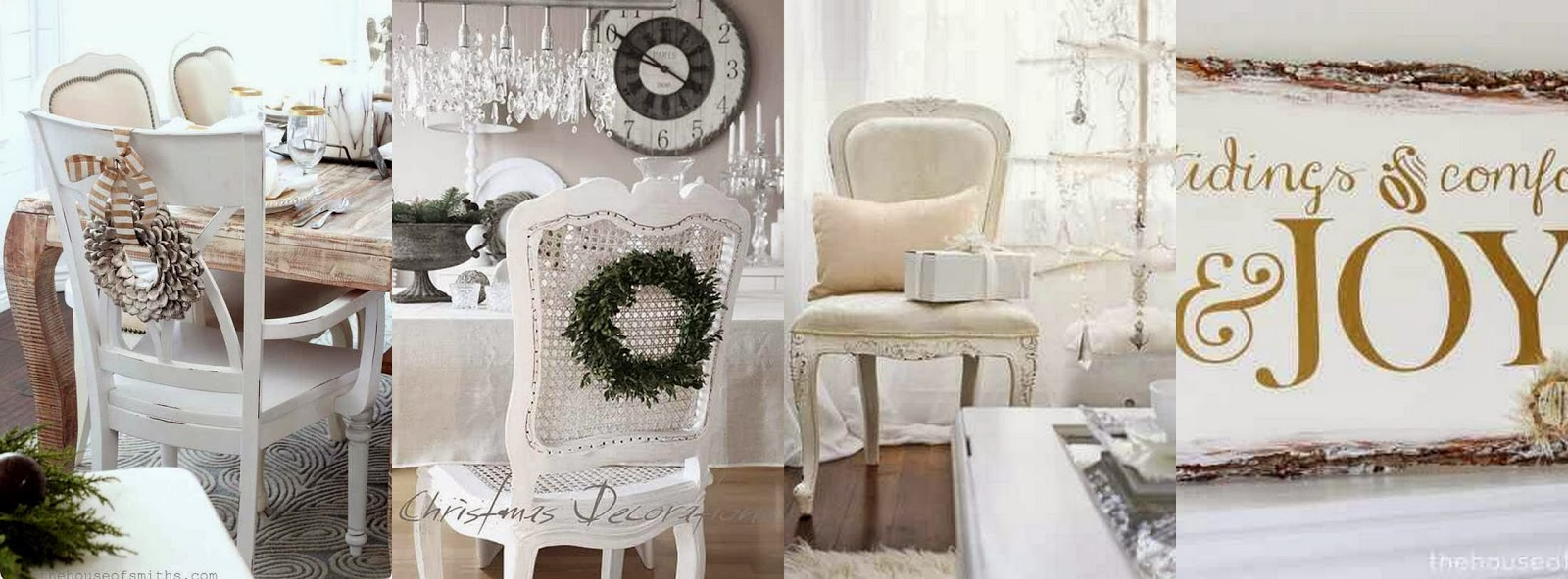 The french flea white christmas decorating ideas for Christmas home decorations pinterest