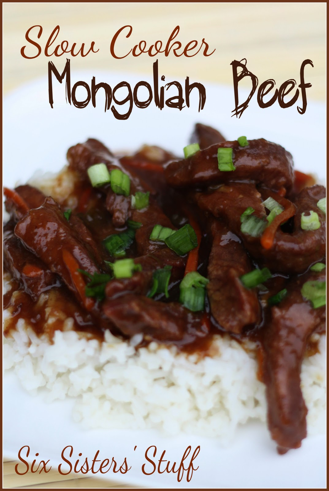 Slow Cooker Mongolian Beef | Six Sisters' Stuff