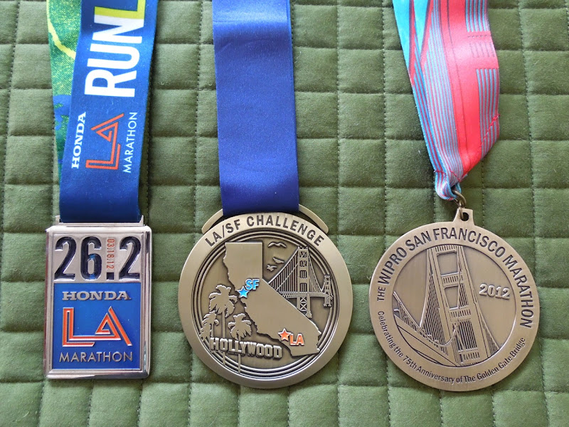2012 LA SF Marathon medals