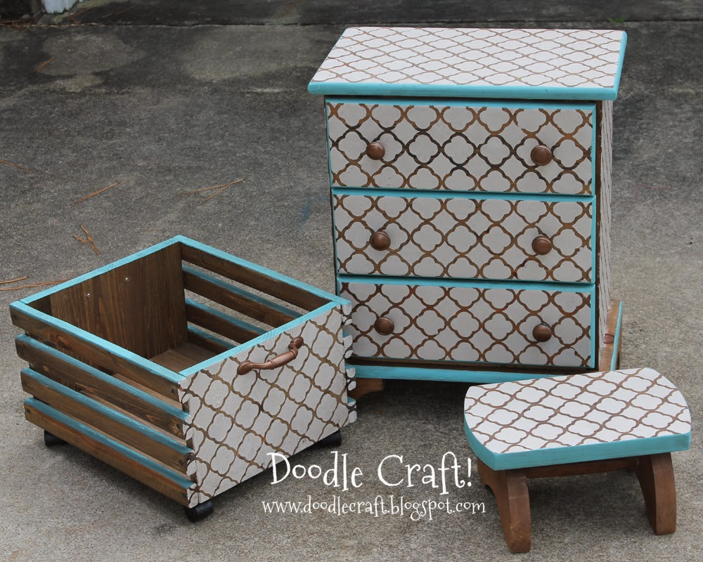 http://www.doodlecraft.blogspot.com/2012/09/custom-diy-stenciling-staining-furniture.html