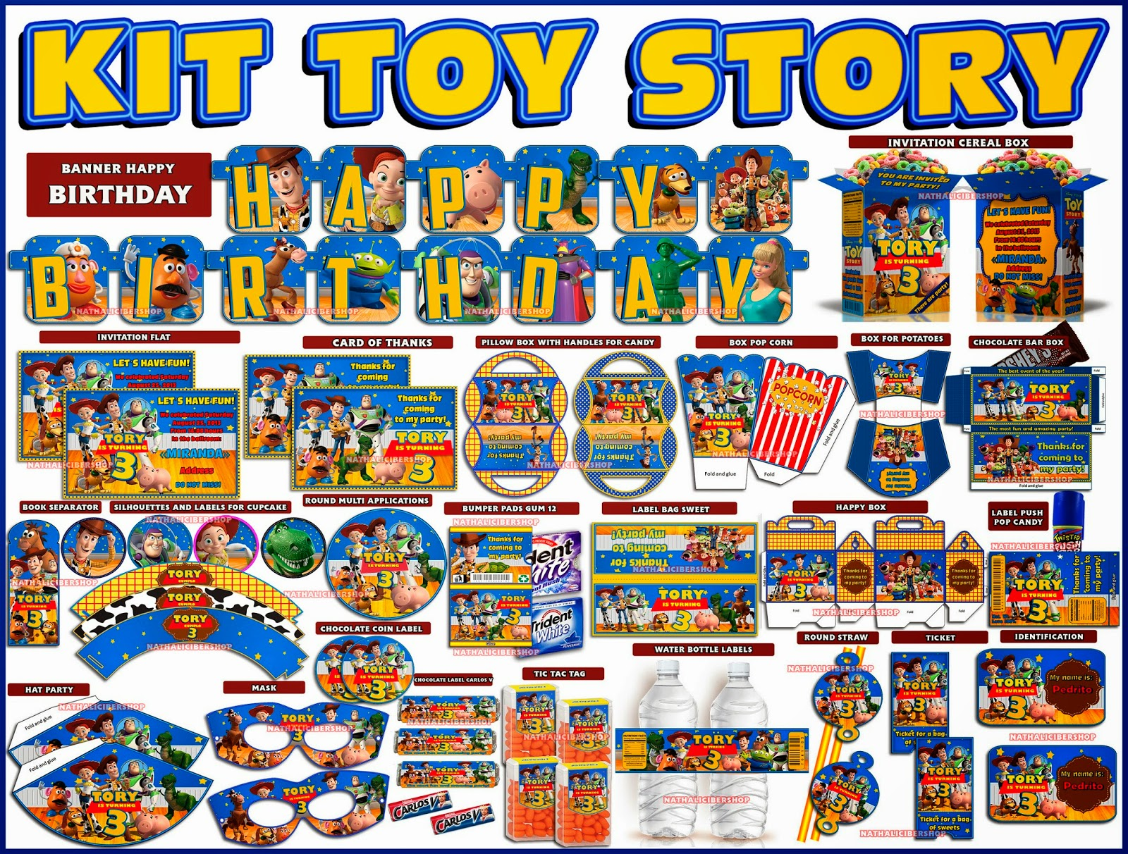 Kit Party Printable Toy Story