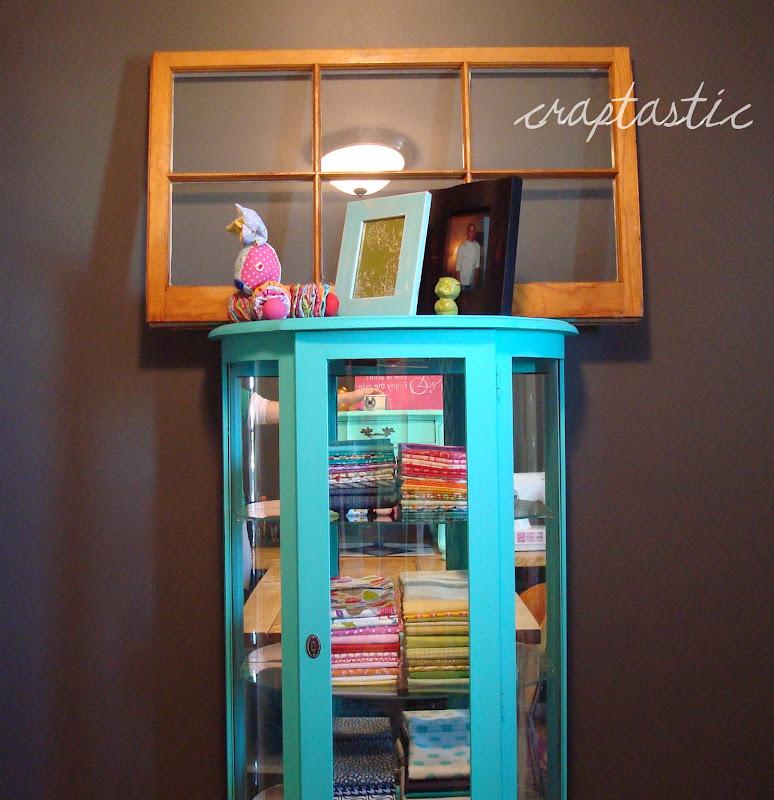 DIY Chalk Paint   Aqua Curio Cabinet!