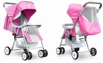 Xe đẩy Seebaby QQ3 màu hồng