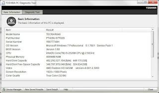 Download Toshiba Diagnostic Tool PC 3.2.15