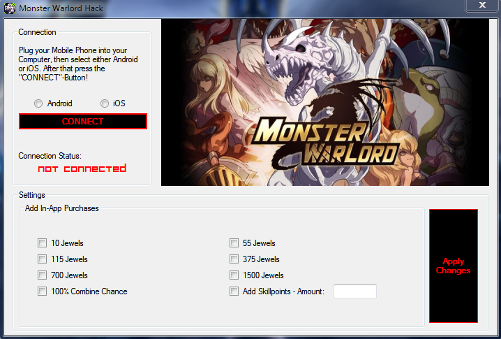 monster warlord cheat hack free download jewels iphone android gold