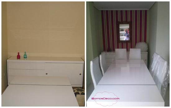 decoracion con muebles blancos