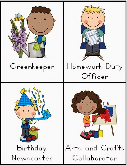 Jumping into Jobs Cards - Classroom Responsibilities