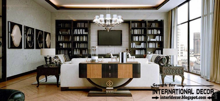Stylish Art Deco Living Room Interior Design Style And Furniture.  Innendesign ...