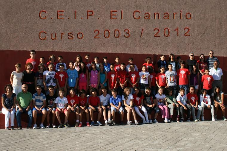 PROMOCIÓN 2003/2012 CEIP EL CANARIO