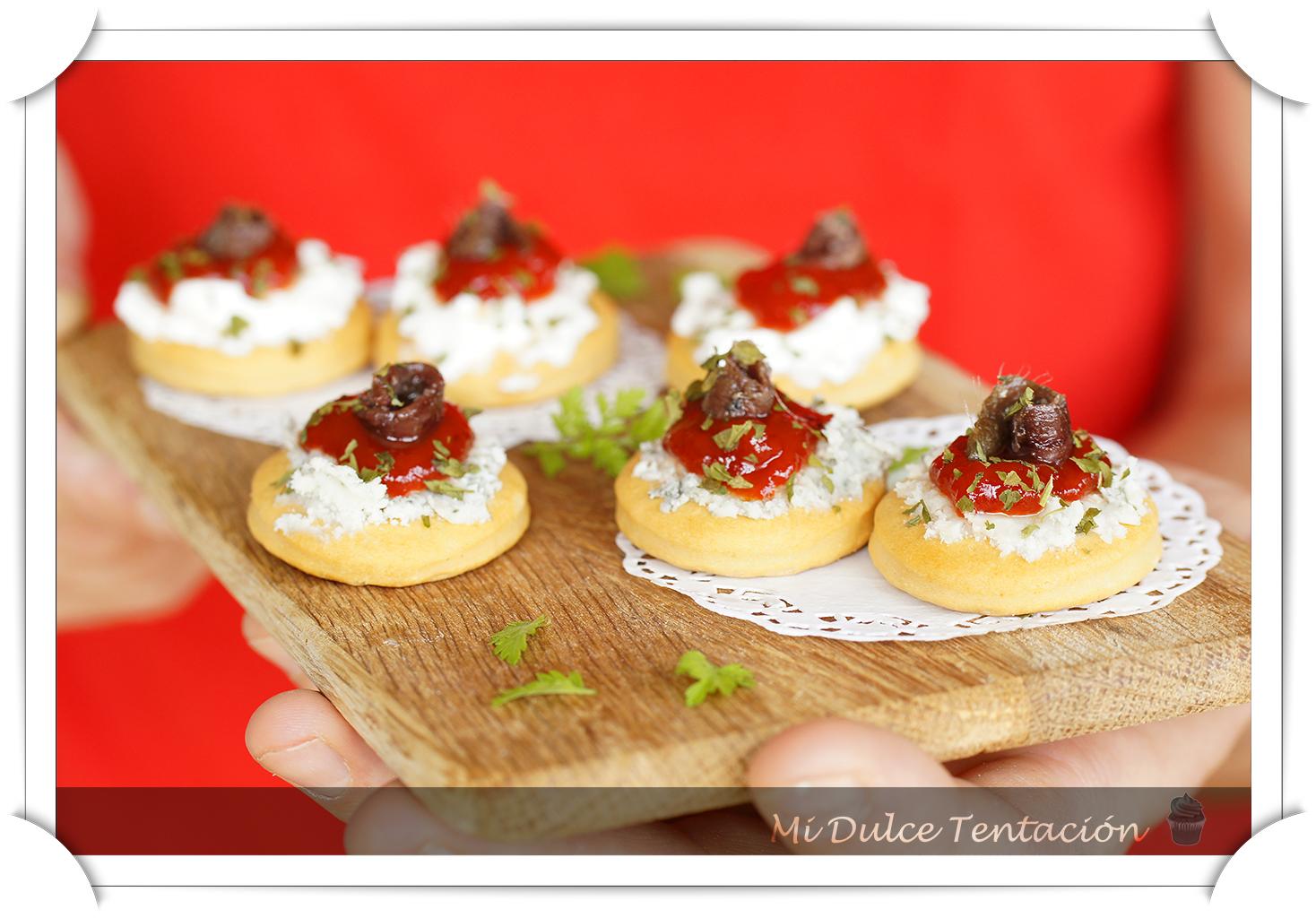Mi dulce tentaci n tosta de queso y mermelada de pimientos - Como hacer mermelada de pimiento ...