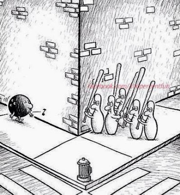funny cartoon bowling life