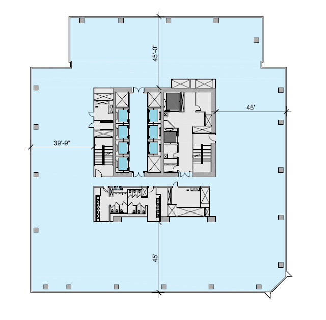 South office building lower floor plan