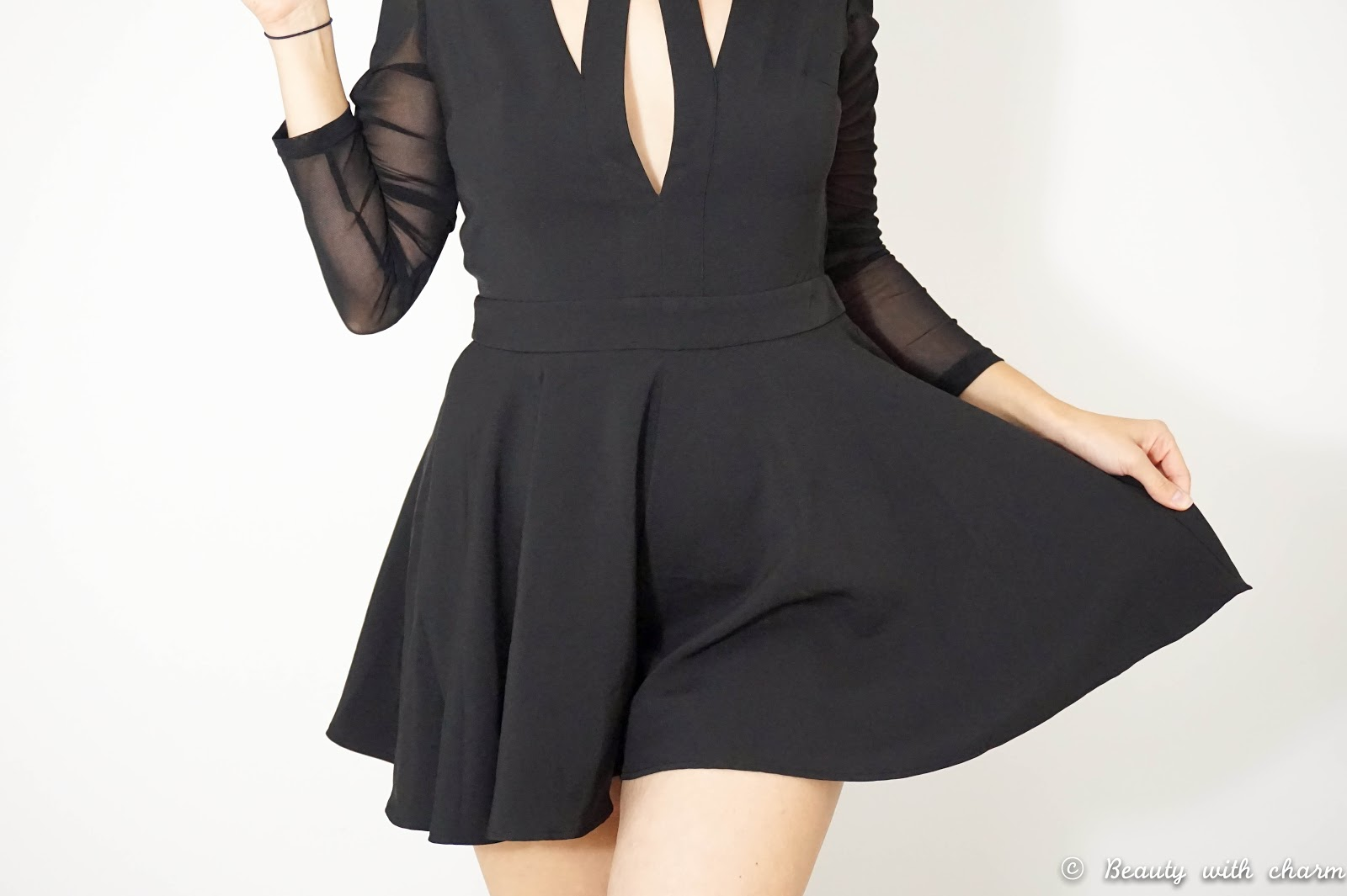 LUXEMME Sauville Long Sleeve Cut Out Playsuit