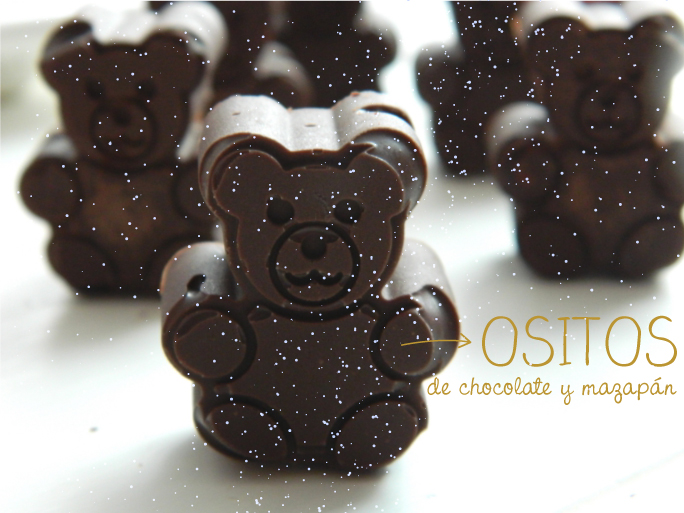 Ositos de chocolate y mazapán