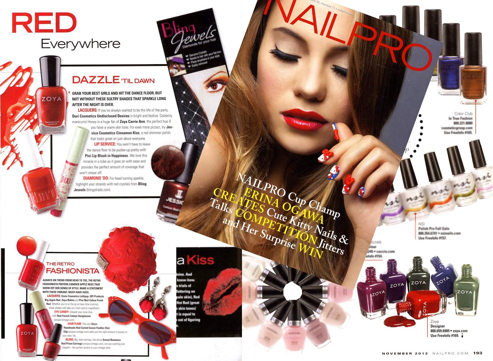 Red Haute Zoya Nail Polish Featured in Nail Pro Magazine...   Zoya ...