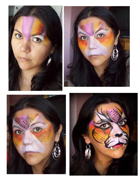 Face Painting Tribal Tiger Step By Painting