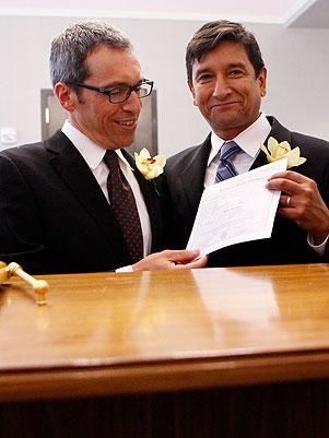 Casal oficializa união em NY (Foto: Getty Images)