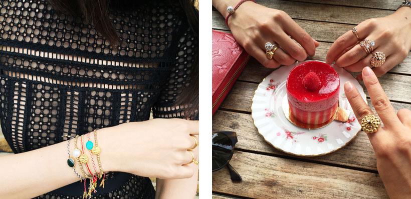 Happily wearing Sara Lashay jewellery!