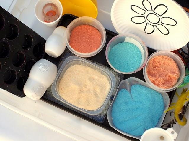 colored salt sensory activity
