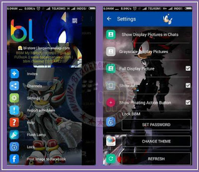 BBM MOD Sonic With Change Theme and Change Toolbar V.2.11.0.18 APK