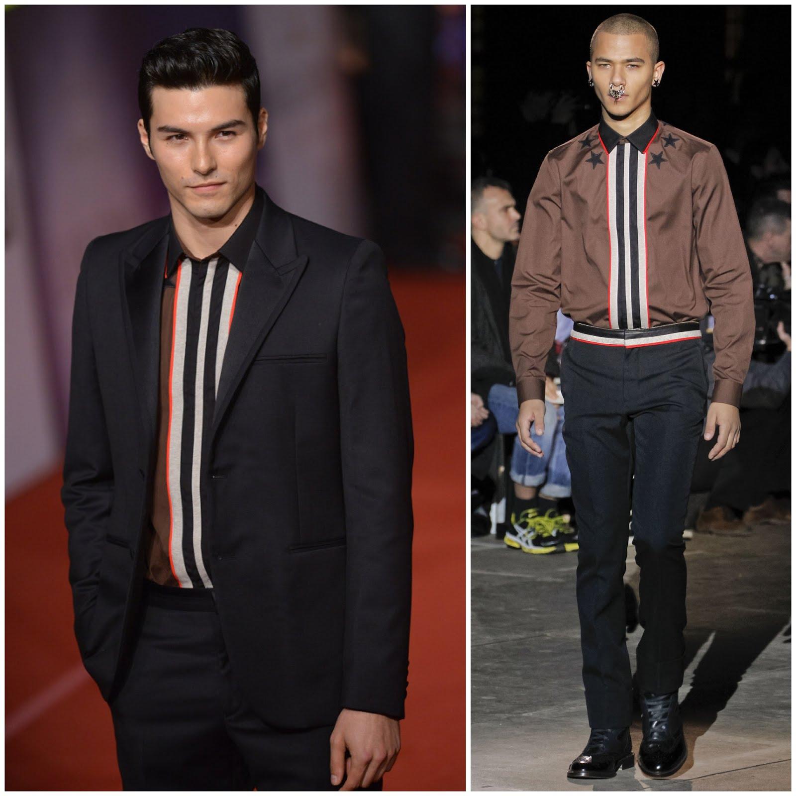 00O00 London Menswear Blog Celebrity Style Rhydian Vaughan (Feng Xiaoyue) in Givenchy - 49th Golden Horse Awards [鳳小岳现身第49届台湾电影金马奖颁奖礼, 身穿 Givenchy 衬衫]