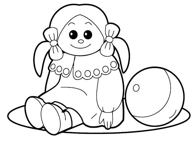 Bonecas para colorir