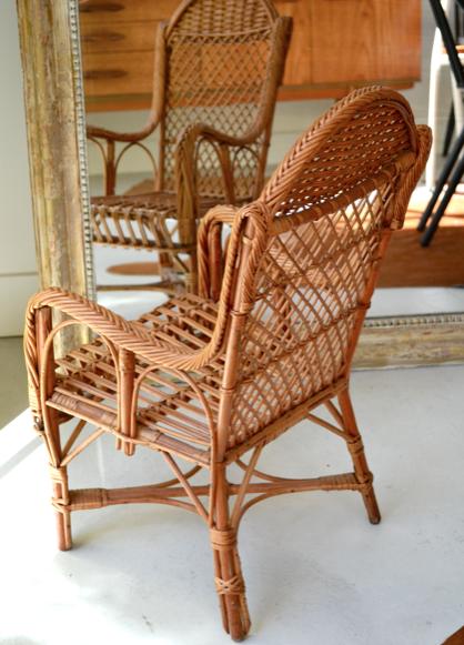 Past present chaise en rotin pour les kids for Prix chaise en rotin