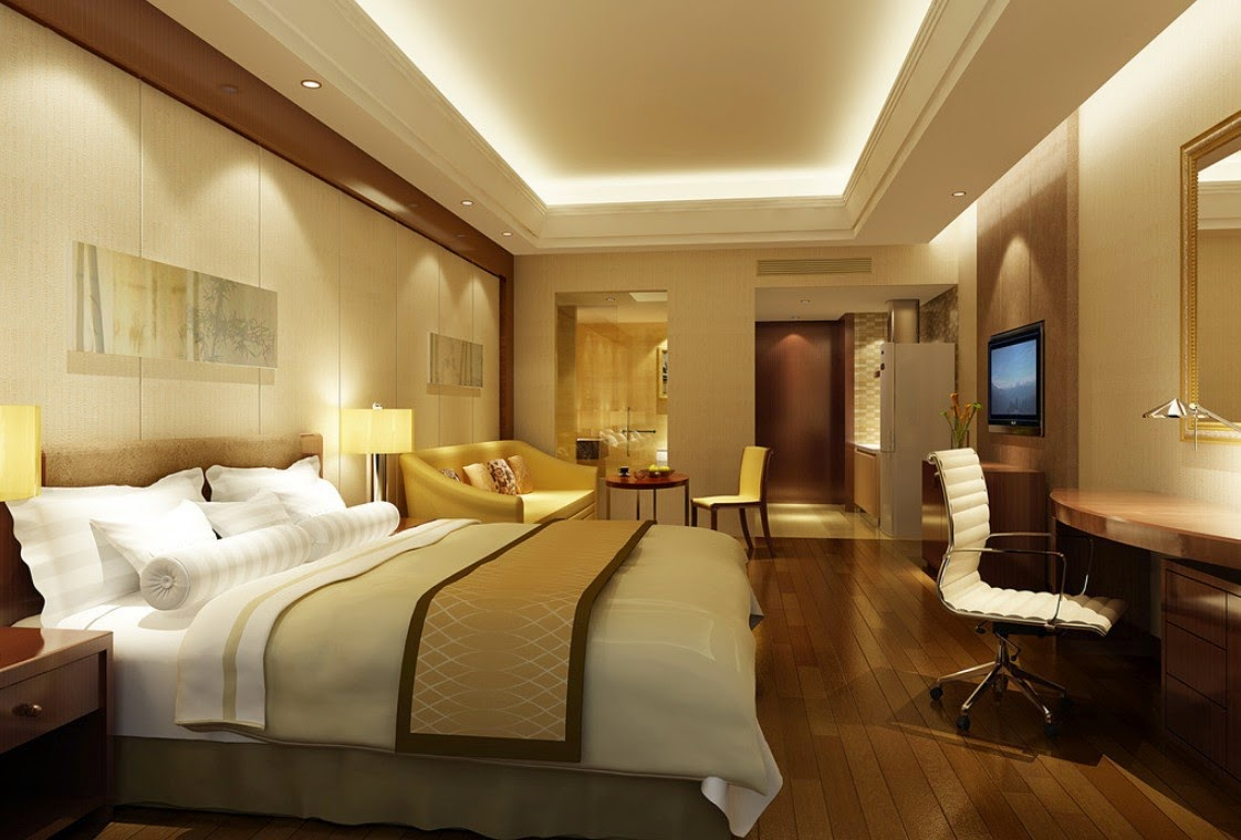 Interior design ideas modern minimalist hotel room