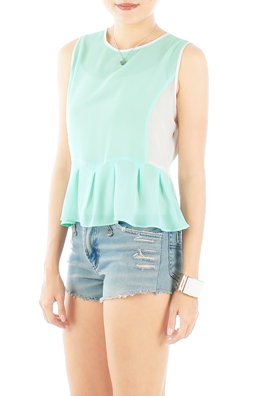 'Good Sport' Chiffon Peplum Top