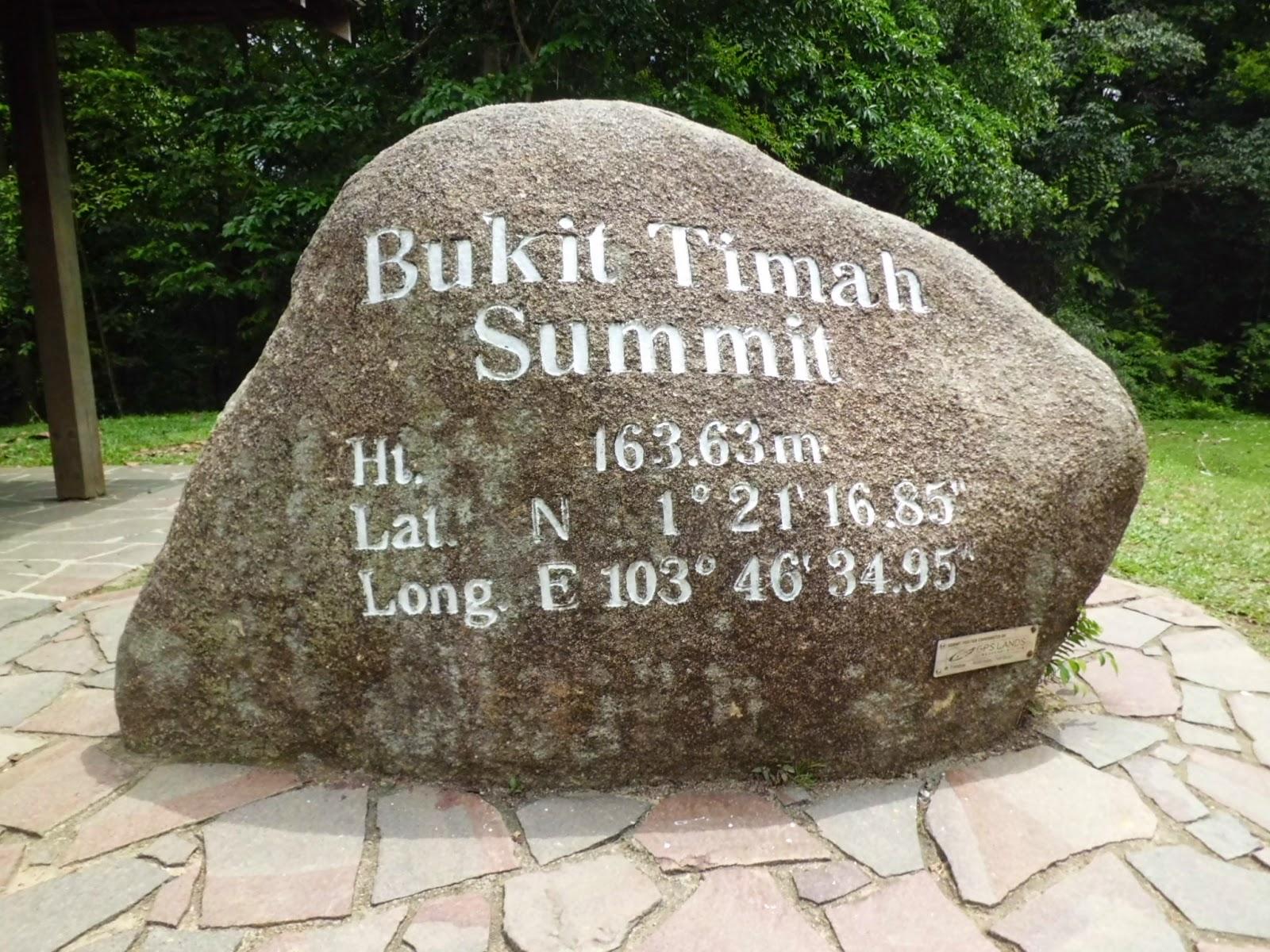 he Bukit Timah Nature Reserve Summit, 163.63m.