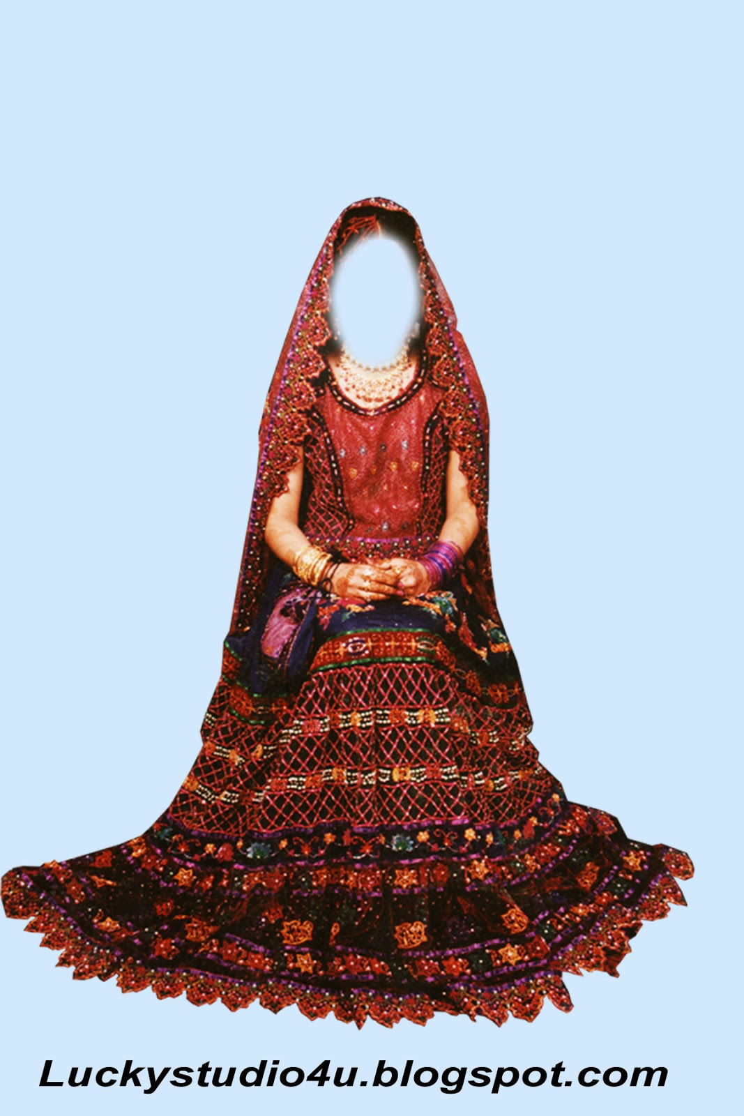 new indian bridal dress psd file for photoshop