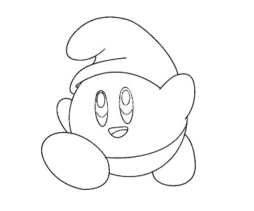 #24 Kirby Coloring Page