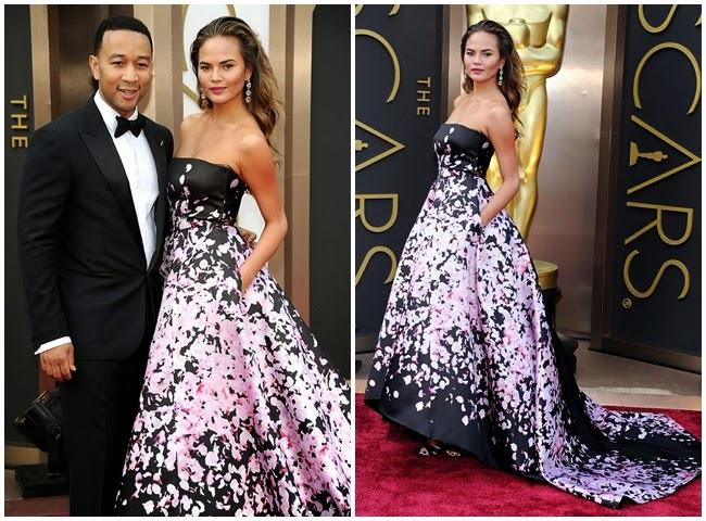 2014 Golden Horse Awards:Sinje Lee wore the same Monique Lhuillier gown with Christine Teigen