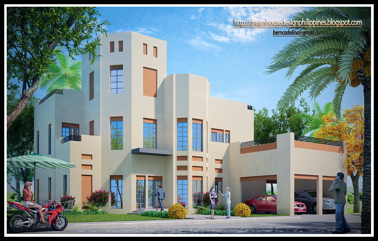 This House Design Image Is A Product Of 3d Studio Max Software With V Ray.  (click The Image To Enlarge)