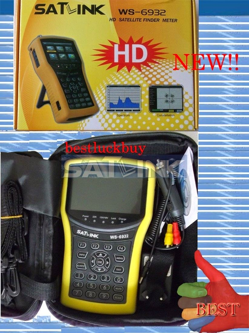 SATLINK WS-6932 HD Spectrum Analyzer DVB-S & DVB-S2 Satellite Finder Meter NEW