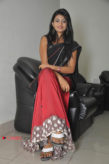 Haasika Picture Gallery in Black Saree at Prema Katha Chitram Audio Release Function  0033.jpg