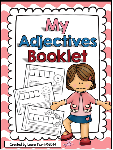 http://www.teacherspayteachers.com/Product/My-Adjectives-Book-Interactive-Parts-of-Speech-Book-1085063