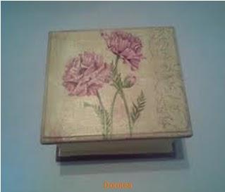 Cajas en madera decoradas - Craquelado de madera ...