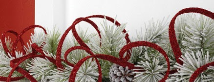 RAZ Red Curly Garland at Trendy Tree