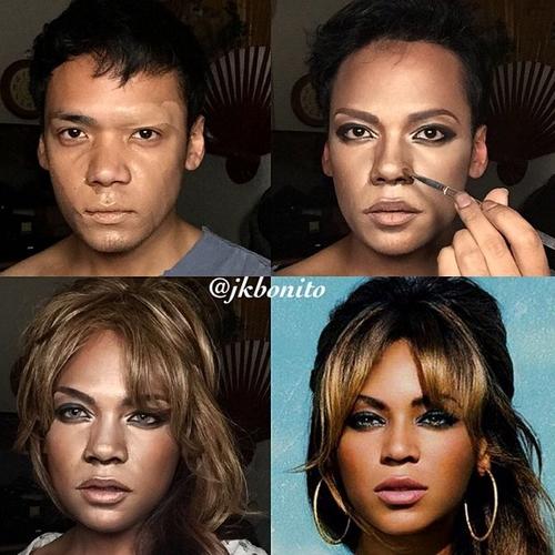12-Beyoncé-Jan-Bonito-Body-Painting-Human-Chameleon-Mimics-Celebrities-www-designstack-co