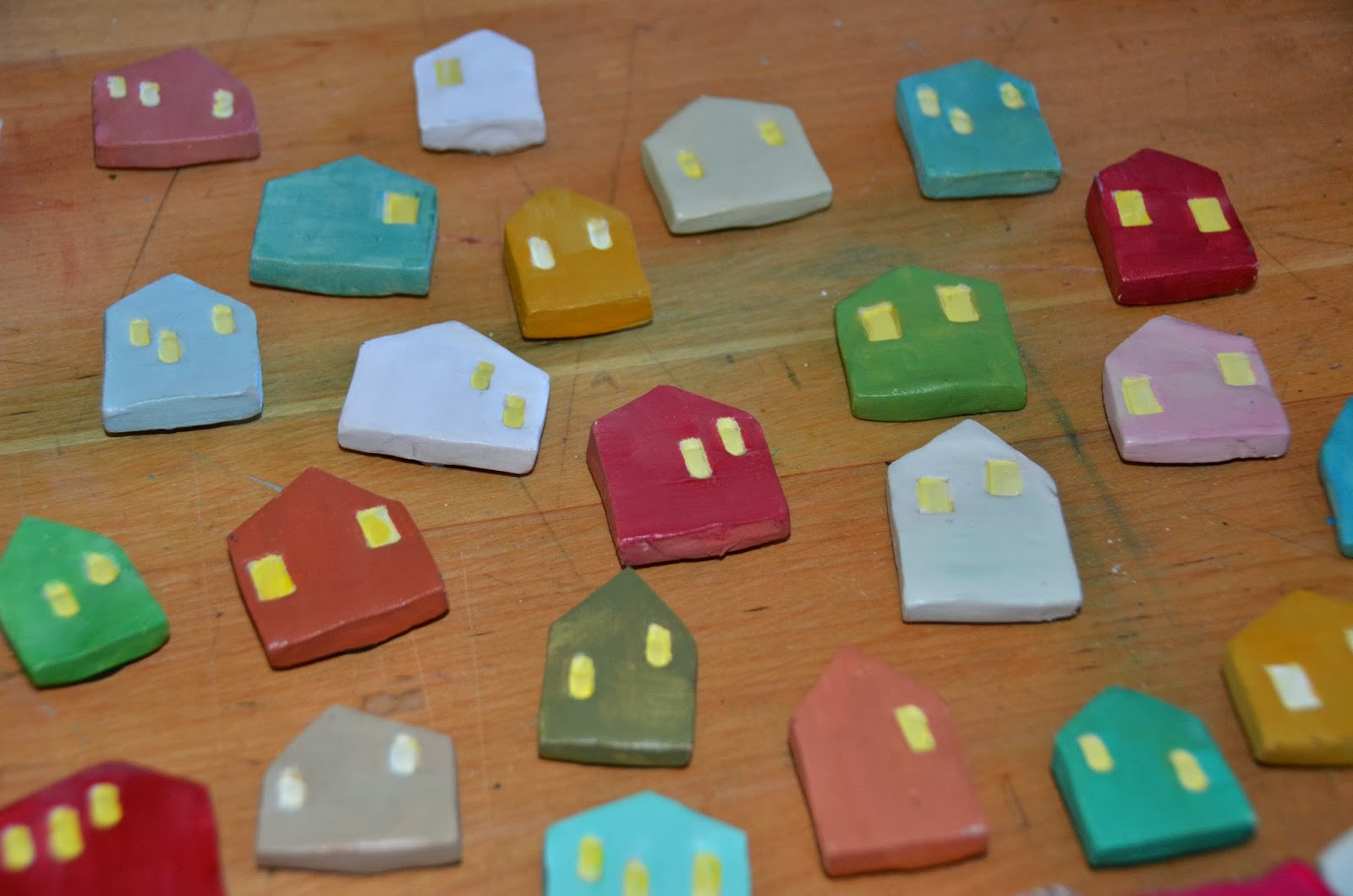 air dry clay tiny houses and ring holders theartgirljackie tutorials